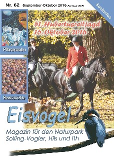 Eisvogel-Magazin Nr. 62 - September-Oktober 2016